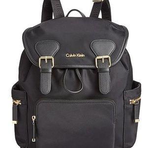 Calvin klein black back pack.